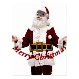 Ardilla Santa-Feliz Christmas_ Tarjeta Postal