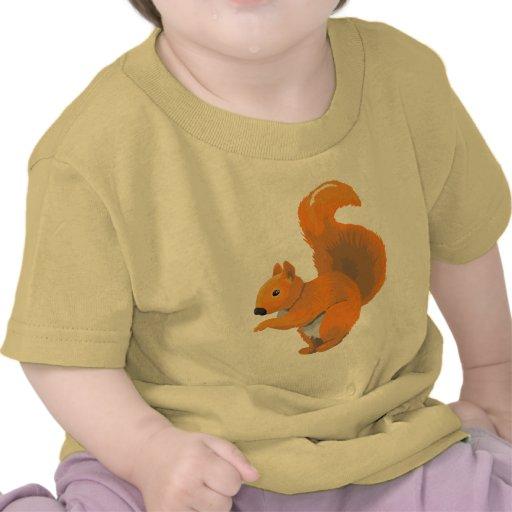 Ardilla Scampering Camisetas