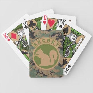 Ardilla secreta táctica baraja cartas de poker
