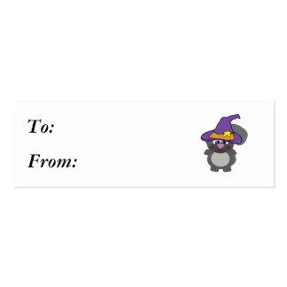 ardilla witchy del goofkin tarjetas de visita mini