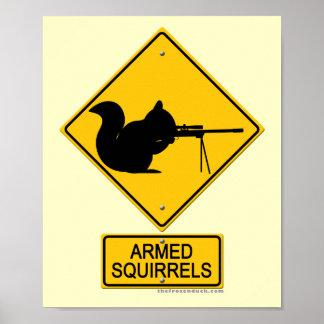 Ardillas armadas amonestadoras posters