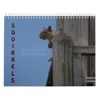 ¡Ardillas! Calendarios De Pared