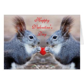 Ardillas de la tarjeta del día de San Valentín - t