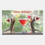 Ardillas de Santa que beben un cóctel Rectangular Altavoz