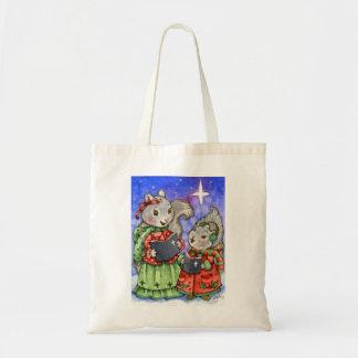 Ardillas del navidad de Caroling - la bolsa de asa