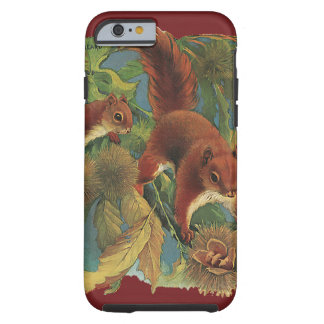 Ardillas del vintage, animales salvajes, criaturas funda de iPhone 6 tough