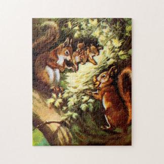 Ardillas del vintage puzzle