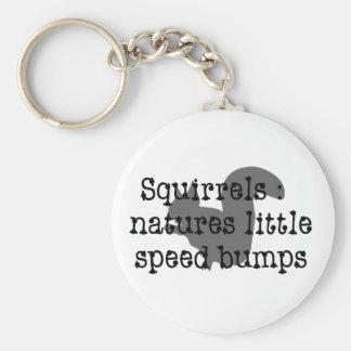 Ardillas: Naturalezas poco Speedbumps Llavero Redondo Tipo Pin