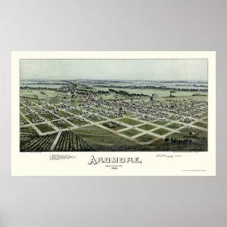Ardmore, OK Panoramic Map - 1891 Poster