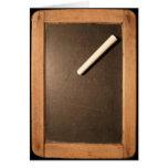 Ardoise #01 - Vintage Slate with Chalk Greeting Card