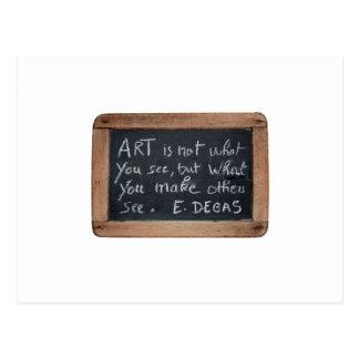 Ardoise #03 - Las citas del artista - postal
