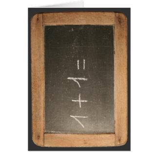Ardoise #04 - Lecciones matemáticas Felicitacion