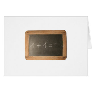 Ardoise 04 - Mathematicals Lessons Greeting Cards