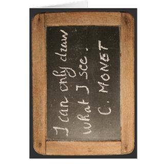 Ardoise #05 - La cita de Monet - tarjeta