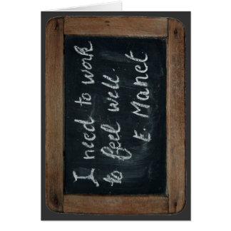 Ardoise 07 - La cita de Manet - tarjeta