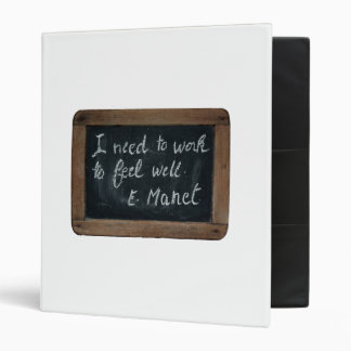 Ardoise 07 Manet's Quote Art Lessons White Binder