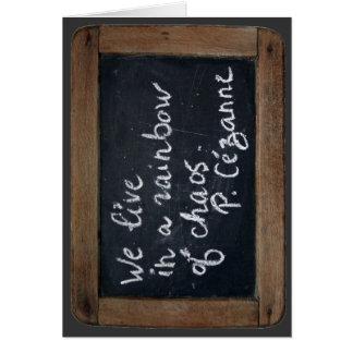 Ardoise #08 - La cita de Cezanne - tarjeta