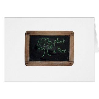 Ardoise #12 - Plante un árbol Felicitacion