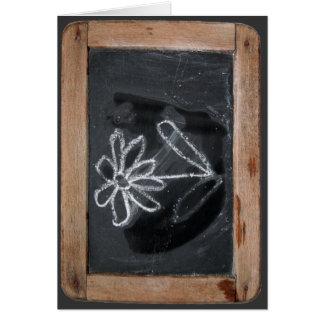 Ardoise #6 - Doodles de la flor Tarjetón