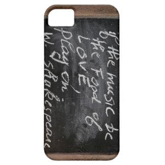 Ardoise - Quote de W. Shakespeare - iPhone 5 Carcasas