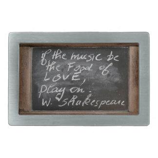 Ardoise - W. Shakespeare's Quote - Belt Buckle