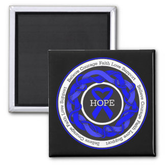 ARDS Hope Intertwined Ribbon Fridge Magnets