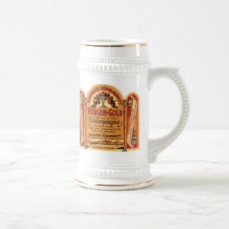 Arduco Community Hudson Gold Champagne Mugs, Stein