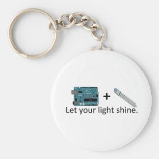 Arduino + RGB LED = Inspiration Basic Round Button Keychain