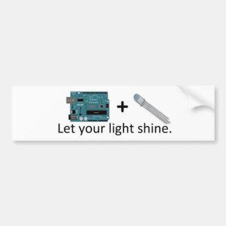 Arduino + RGB LED = Inspiration Bumper Sticker
