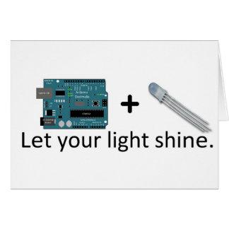 Arduino + RGB LED = Inspiration Card