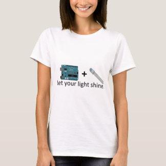 Arduino + RGB LED = Inspiration T-Shirt