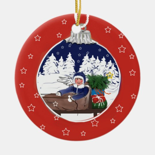… are already on the way… Christmas ornamentation Ceramic Ornament