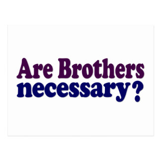 Are Brothers Necessary Postcard