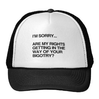 ARE MY RIGHTS GETTING IN THE WAY TRUCKER HAT