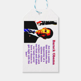 Are We A Nation That Tolerates - Barack Obama Gift Tags