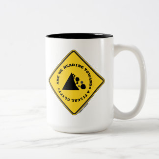Are We Heading Towards A Fiscal Cliff? (Econ Sign) Two-Tone Coffee Mug