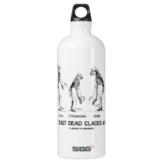 Are We Just Dead Clades Walking? (Evolution) Aluminum Water Bottle