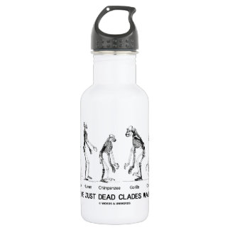 Are We Just Dead Clades Walking? (Evolution) Stainless Steel Water Bottle