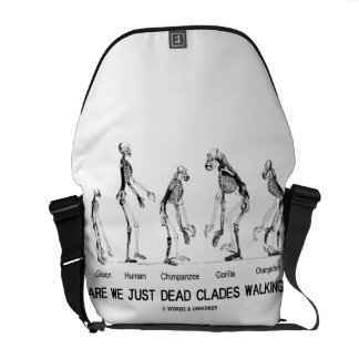 Are We Just Dead Clades Walking? (Skeletons) Courier Bags