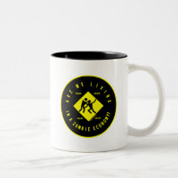 Are We Living In A Zombie Economy? (Econ Humor) Two-Tone Coffee Mug