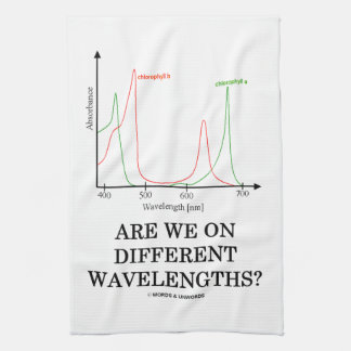Are We On Different Wavelengths? (Chlorophyll) Kitchen Towels