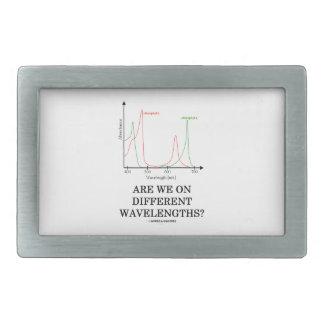 Are We On Different Wavelengths? (Chlorophyll) Rectangular Belt Buckle