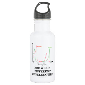 Are We On Different Wavelengths? (Chlorophyll) Stainless Steel Water Bottle