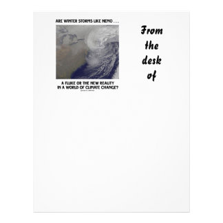 Are Winter Storms Like Nemo Fluke Or New Reality? Customized Letterhead