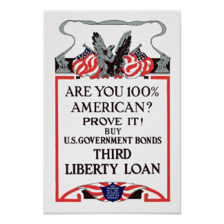 Are you 100% American? Buy Bonds Print