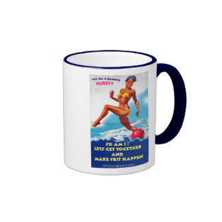 Are You a Beading Hussy? Ringer Coffee Mug