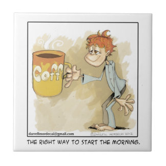 are you a coffee addict? tile