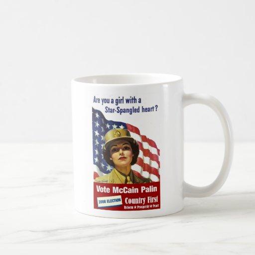 Are You a Girl with a Star Spangled Heart?  Mug