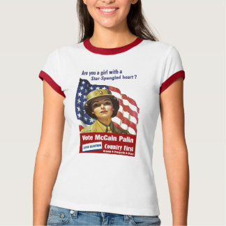 Are you a girl with a star spangled heart? t shirts