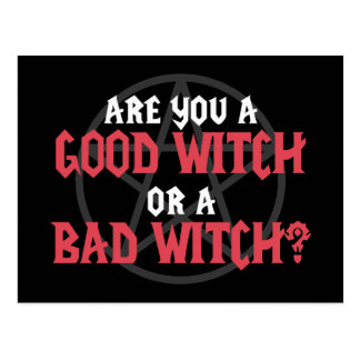 Are you a Good Witch or a Bad Witch Postcard